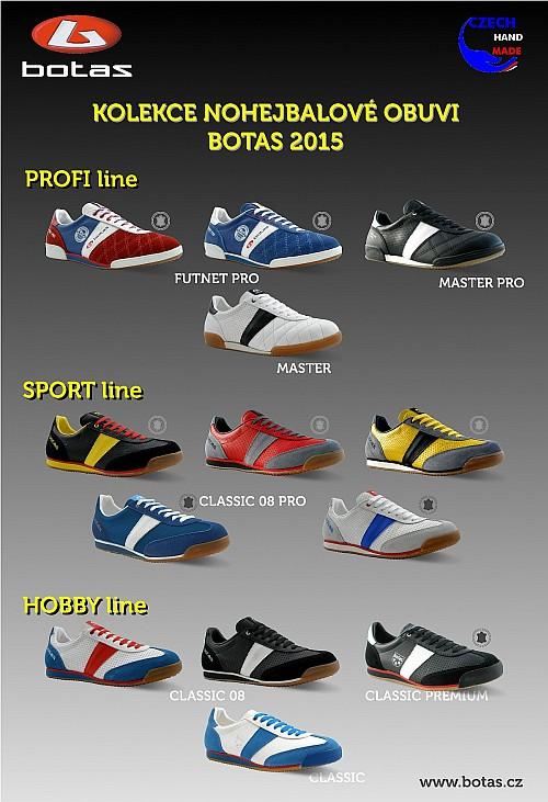 Přehled nohejbalové obuvi BOTAS 2015